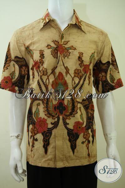 Hem Batik Klasik  Lengan Pendek Cocok Buat Seragam Kerja, Baju Batik Trendy Kwaliats Premium [LD3404T-L]