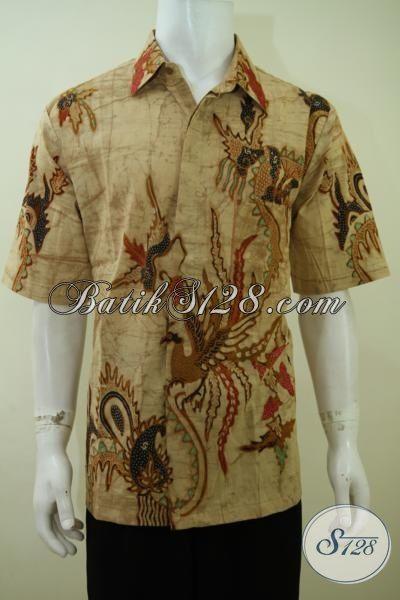 Batik Hem Motif Klasik Desain Formal Berkelas, Pakaian Batik Lengan Pendek Cocok Buat Kondangan Dan Keren Untuk Kerja [LD3408T-XL]
