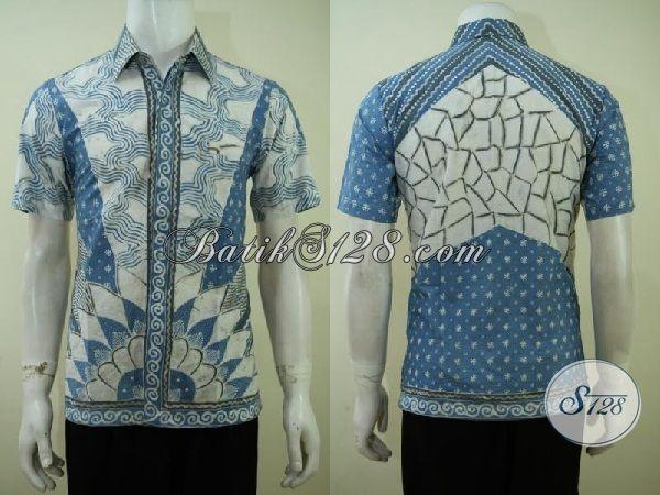 Pusat Online Oleh-Oleh Batik Solo Sedia Kemeja Batik Tulis Premium Pewarna Alami Yang Ramah Lingkungan [LD3410TA-S]