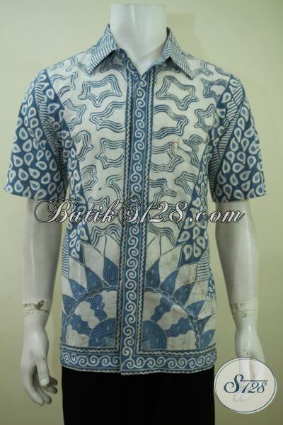 Pusat Penjualan Busana Batik Solo Online, Sedia Kemeja Batik Tulis Pewarna Alam Kwalitas Halus Motif Keren Harga Terjangkau [LD3414TA-L]