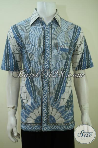 Aneka Busana Batik Cowok Model Lengan Pendek Dengan Motif Klasik Warna Modern Untuk Tampil  Lebih Trendy Dan Berwibawa [LD3415TA-L]