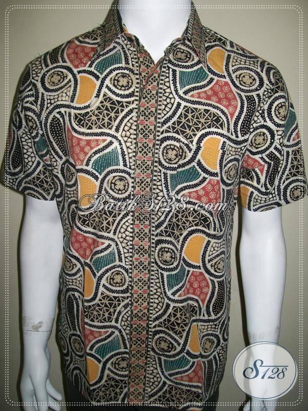 Batik Unik Solo, Baju Batik Pria Modern Eksklusif dan Elegan [LD341CTC-M]