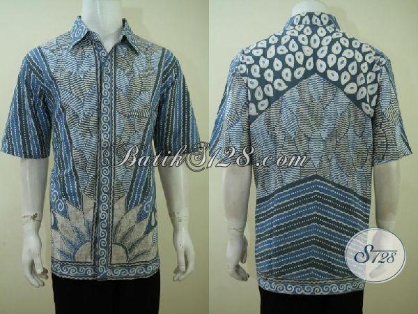 Distro Batik Online Jual Busana Batik Cowok Motif Klasik Dengan Warna Modern Yang Menarik, Baju Batik Lengan Pendek Proses Tulis dengan Pewarna ALam Yang Ramah Lingkungan [LD3422TA-XXL]