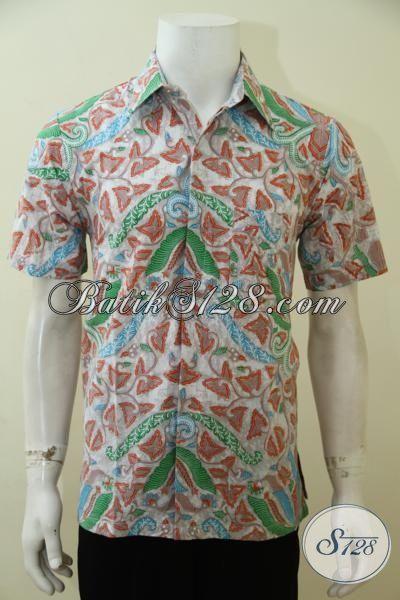 Hem Batik Modern Khas Anak Muda Masa Kini, Pakaian Batik Lengan Pendek Motif 2015 Cocok Untuk Hangouts Dan Pesta, Size S