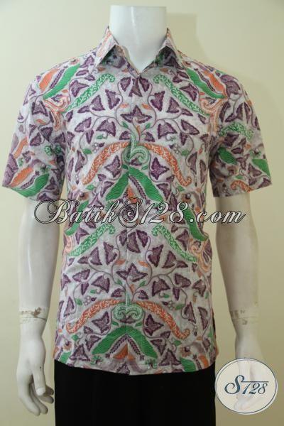 Batik Pria Masa Kini Motif Modern Harga Murmer, Pakaian Batik Kwalitas Halus Proses Print Cocok Buat Gaul, Size M – XL