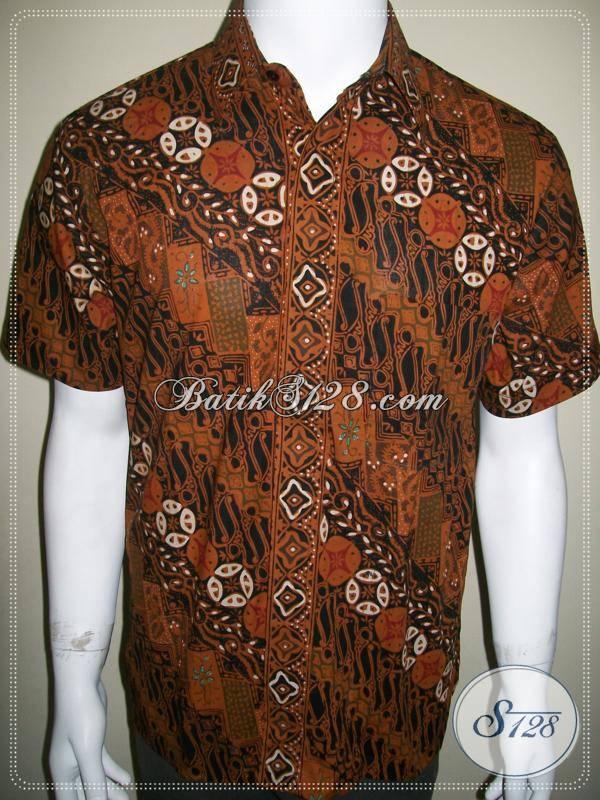 Baju Batik Pria Gaul Keren Lengan Pendek Ukuran M Medium