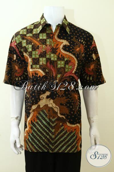 Jual Kemeja Batik Jumbo Untuk Pria Gemuk, Pakaian Batik Tulis Mewah Full Daleman Furing Motif Klasik Cowok Lebih Berkarakter [LD3498TF-XXL]