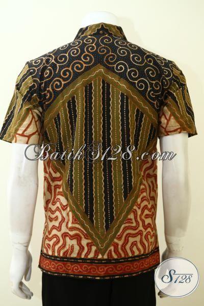 Batik Kemeja Pria Motif Modern Klasik Pas Buat Seragam Kerja, Baju Batik Full Daleman Furing Cowok Lebih Macho Dan Rapi [LD3499TF-S]