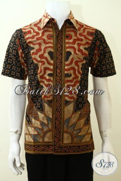 Baju Batik Klasik Pria Tampil Modis Dan Mewah, Hem Batik Full Furing Proses Tulis Kwalitas Halus Dan Nyaman Di Pakai [LD3500TF-S]