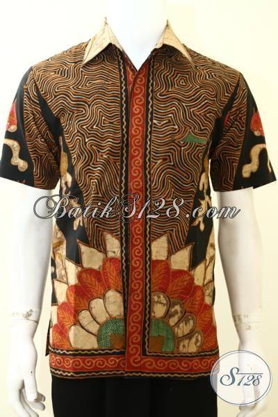 Hem Batik Bagus Halus Kwalitas Premium, Baju Batik Pria Muda Tampil Lebih Dewasa, Batik Solo Tulis Full Furing Lengan Pendek Mewah, Size M