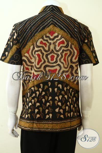 Seragam Kerja Pria Muda Karir Sukses Model Lengan Pendek, Baju Batik Full Furing Untuk Tampil Gagah Berwibawa [LD3504TF-M]