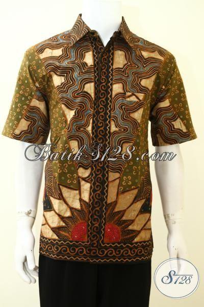Baju Batik Jawa Motif Klasik Model Lengan Pendek, Hem Batik Full Furing Yang Pas Buat Ke Kantor Maupun Untuk Pesta [LD3505TF-L]