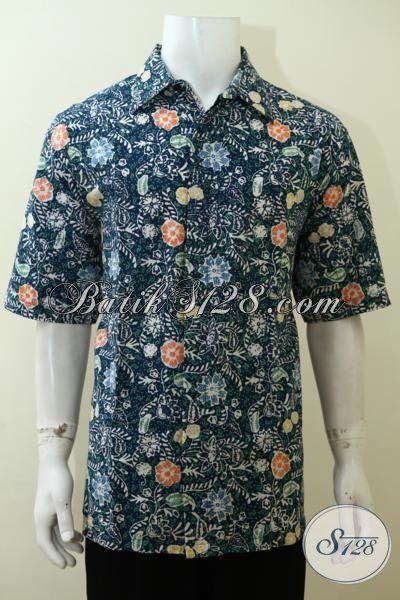 Jual Hem Batik Jumbo Motif Keren Trend Masa Kini, Pakaian Batik Proses Cap Bledak Cowok Gemuk Bisa Tampil Lebih OK [LD3517CD-XXL]