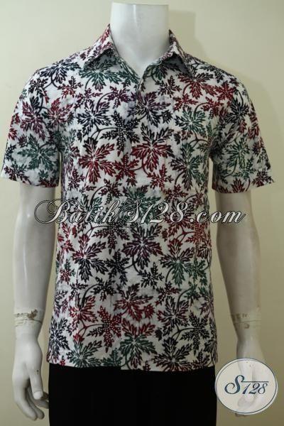 Sedia Pakaian Batik Solo Terbaru Model Lengan Pendek, Baju Batik Motif Paling Keren Proses Cap Bledak Kwalitas Halus [LD3518CD-S]