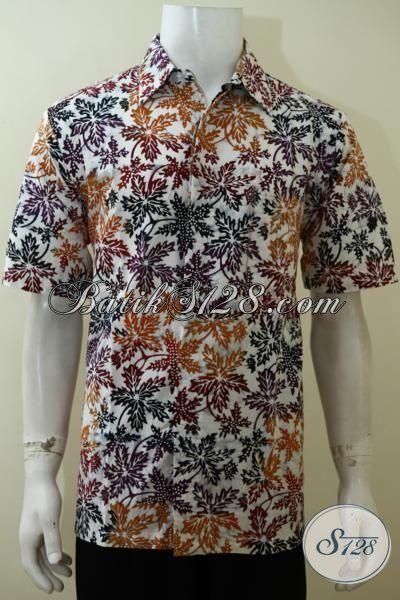 Batik Pria Motif Paling Baru yang Banyak Di Cari, Hem Batik Lengan Pendek Kwalitas Halu Adem Nyaman Dikenakan Siang Maupun Malam [LD3523CD-L]