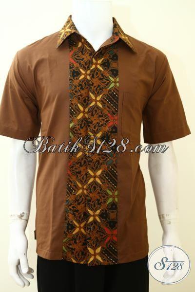 Kemeja Batik Anak Gaul Baju Batik Kombinasi Kain Polos