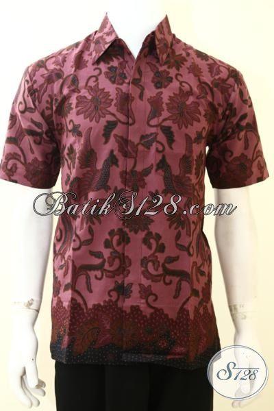 Jual Online Pakaian Batik Paling Baru Khusus Untuk Cowok, Hem Batik Printing Motif Unik Kwalitas Halus Model Lengan Pendek Untuk Tampil Trendy Dan Modis [LD3534P-XL]