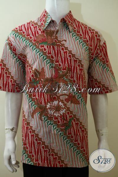 Hem Batik Parang Desain Terbaru Yang Lebih Trenfy Dan Berkelas, Baju Batik Print Kwalitas Halus Harga Murah Meriah [LD3536P-XL]