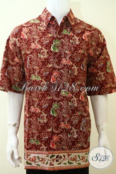 Penjual Pakaian Batik Online Lengkap Dan Murah, Hem Batik Kwalitas Istimewa Proses Print Harga Grosir [LD3538P-XXL]