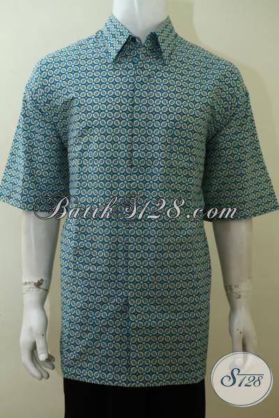 Toko busana batik Pria Terlengkap Di Solo, Jual Hem Batik Lengan Pendek Motif Unik Dan Modern Pas Buat Kerja [LD3540P-XXL]