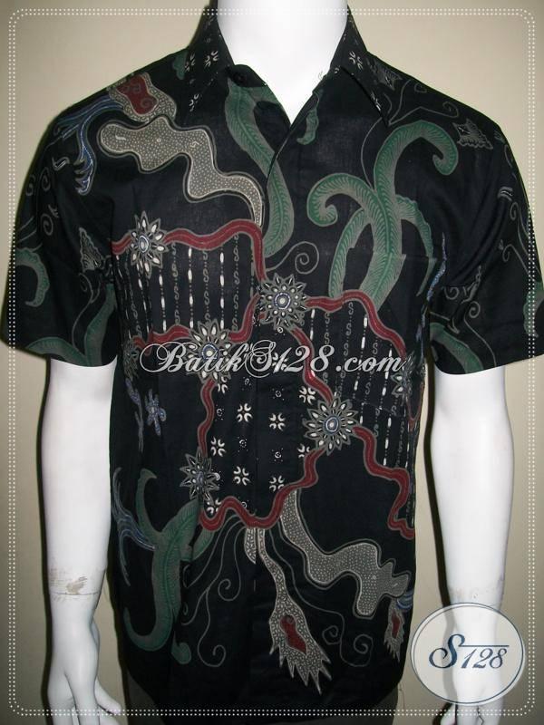 Baju Batik Remaja, Batik Tulis, Hitam Elegan [LD354T-M]
