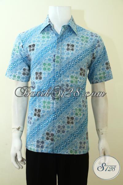 Batik Parang terbaru Yang Hadi Dengan Warna Cerah Dan gaul, Kemeja Batik Cap Lengan Pendek Cowok Tampil Segar [LD3553C-S]