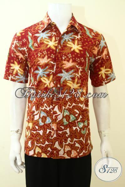 Baju Batik Modern Khas Anak Muda, Busana Batik Trendy Untuk Jalan-Jalan, Batik Santai Cap Tulis Murmer, Size M