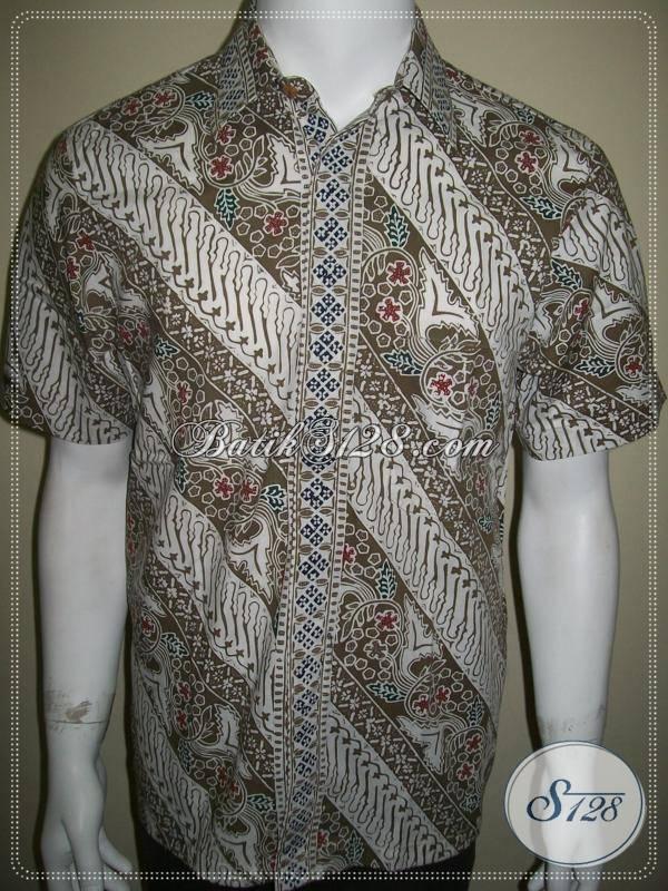 Batik Cowok, Batik Cap Parang Putih Elegan, Belanja Batik Online [LD355CC-M]