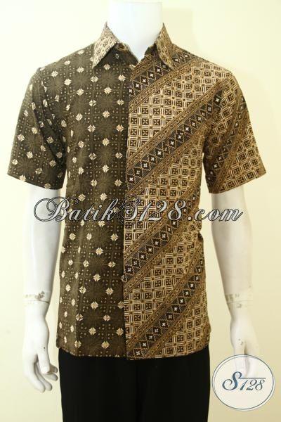 Kemeja Batik Paling Keren Untuk Kerja Dan Hangouts, Busana Batik Desain Dual Motif Trend Terkini, Batik Pria Muda Tampil Bergaya, Size M