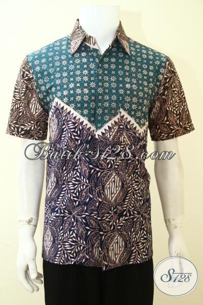Batik Cowok Dua Motif Tiga Warna Hadir Dengan  desain Yang Lebih Trendy Dan Berkelas, Batik Lengan Pendek Kwalitas Istimewa [LD3566CT-M]