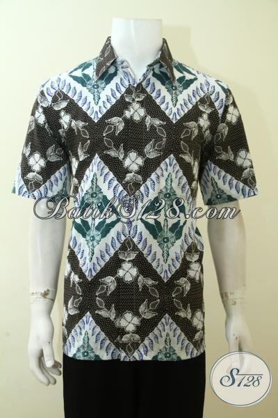 Distro Pakaian Batik Produk Solo Jawa Tengah, Jual Batik Keren Proses Cap Untuk Pria Muda Karir Aktif Dan Sukses [LD3577C-L]