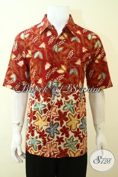 Hem Batik Seragam Kerja Paling Keren, Batik Baju Lengan Pendek Cowok Masa Kini Tampil Trendy Dan Modis [LD3586CT-XL]