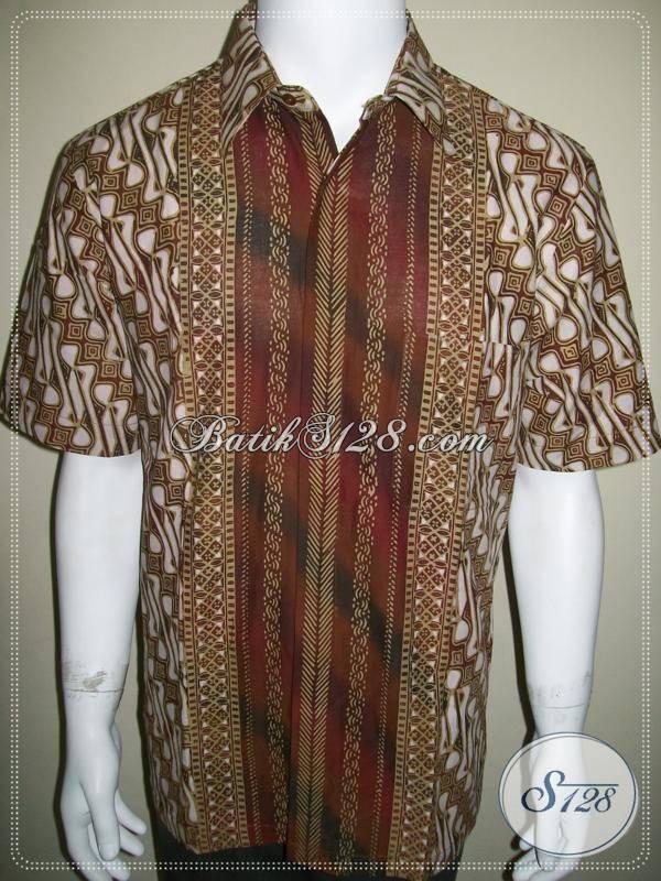 Batik Pria Parang Gradasi SBY, Tompal Lebar, Berkelas dan Mewah [LD358CTC-L]