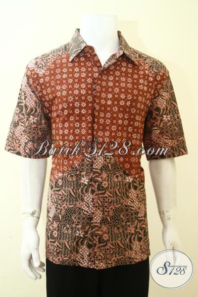 Batik Busana Kerja paling Keren Lelaki Karir Jaman Sekarang, Trend Pakaian Batik Cowok Kombinasi Dua Motif Dan Warna [LD3592CT-XL]
