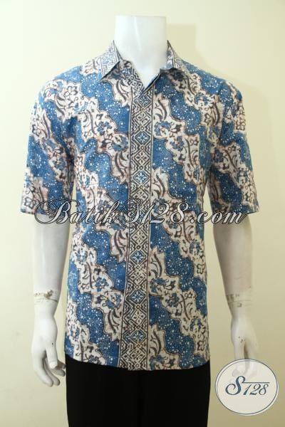 Baju Hem Batik Halus Motif Klasik, Batik Bagus Untuk Tampil Elegan, Busana Batik Berkelas Berbahan Adem, Size XL