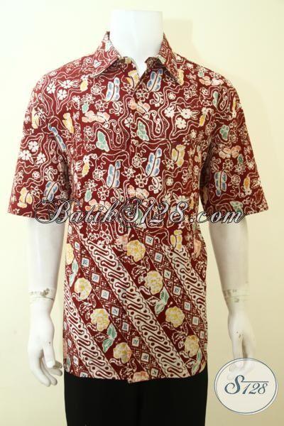 Baju Batik Cap Ukuran Jumbo Khusus Pria Gemuk Hem Batik