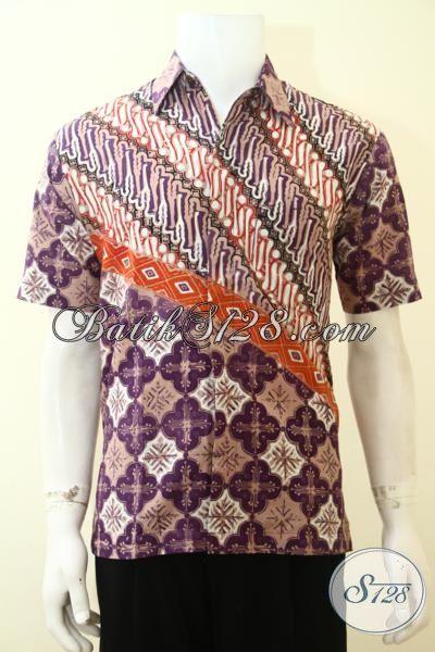 hem batik paling keren warna dasar ungu baju batik solo