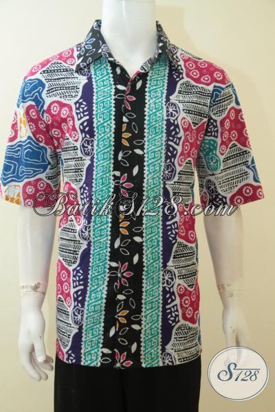 Baju Kemeja Batik Modern Tiga Motif, Busana Batik Berkelas Tinggi Hadir Dengan Harga Murah Hanya 100 Ribuan, Batik Cap Lengan Pendek Terkini, Size XL