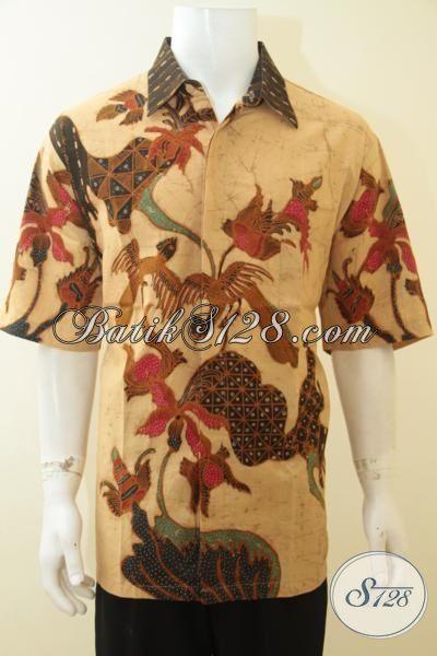 Hem Batik Ukuran Super Jumbo, Baju Batik Pria Gemuk Sekali XXXL, Batik Tulis Warna Klasik Motif Modern Pas Buat Ke Kantor
