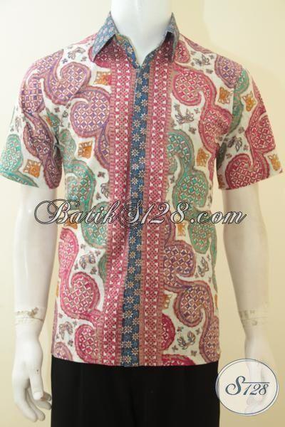 Jual Baju Batik Pink Kombinasi Warna Hijau Proses Cap