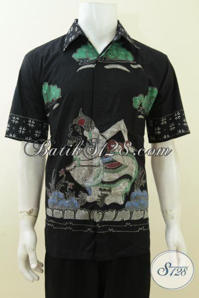 Batik Motif Wayang Semar Warna Hitam, Bagus Banget, Bahan Halus Adem [LD3754T-L]