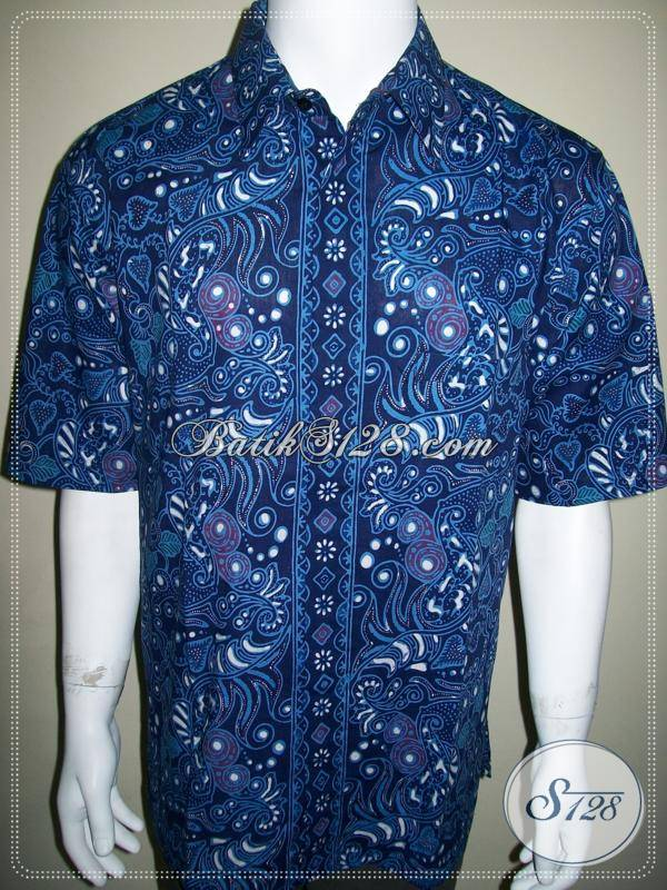 Kemeja Batik Warna Biru Batik Santai Dan Formal Resmi