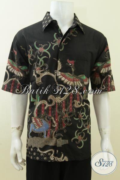 Batik Modern Pria Warna Hitam Keren, Elegan, Gagah Dan Maskulin [LD3760T-XL]