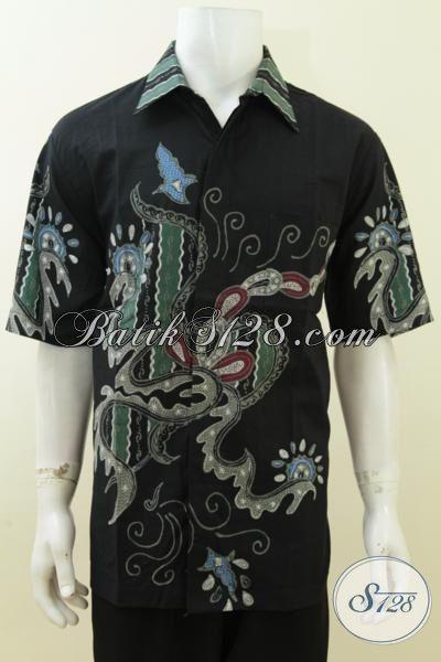 Baju Kemeja Batik Ukuran Extra Besar, Busana Batik Lengan Pendek Ukuran 3L, Batik Tulis Halus Warna Dan Motif Elegan