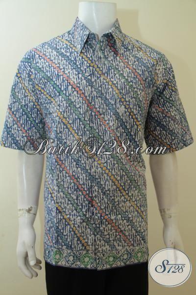 Jual baju pria murah batik cap motif parang keren untuk Jual baju gamis untuk pria