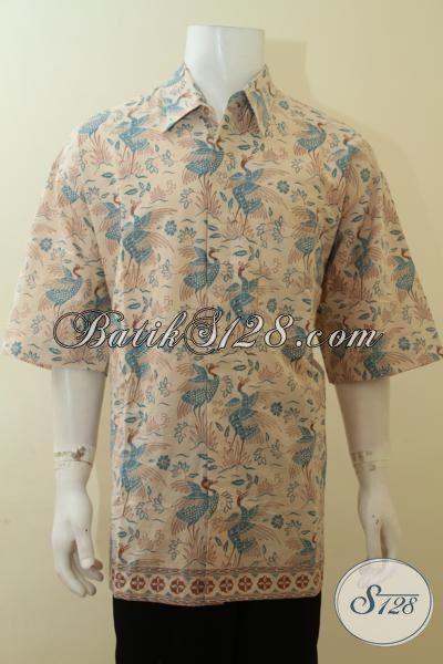 Batik Big Size Pria Gemuk Jumbo Ukuran Super Besar 4L Lengan Pendek, Online Shop Terpercaya [LD3808P-XXXL]