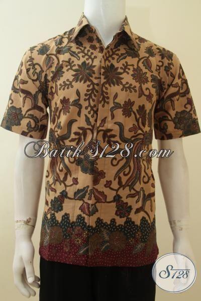 Batik Pria Lengan Pendek Gaul, Warna Soft Kalem, Harga Murah Terjangkau [LD3823PL-L]