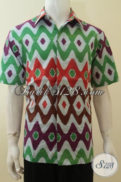 Baju Batik Motif Rangrang Trend Mode Fashion Anak Muda 2015, Kemeja Batik Gaul Remaja Tampil Trendy Dan Keren, Size L