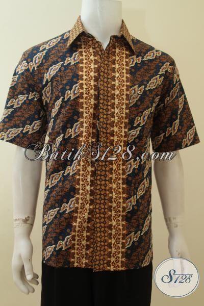 Agen Baju Batik Online Menjual Hem Batik Klasik Print, Baju Batik Elegan Kwalitas Bagus Harga Murmer, Size M – L