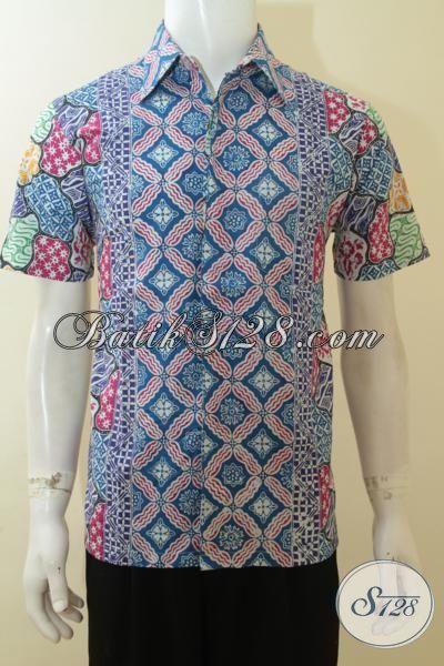 Hem Batik Modern Pria Muda Baju Batik Seragam Kerja